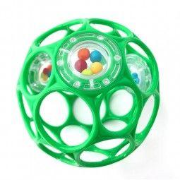 Oball sonajero rattle 10 cm verde.