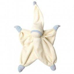 Dou Dou Sisco Organic de Hoppa en beige, muñeco de nudos de la pedagogía Waldorf.